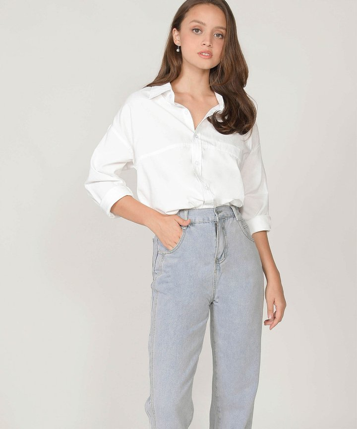 Moscato Button-Down Woven Shirt - White