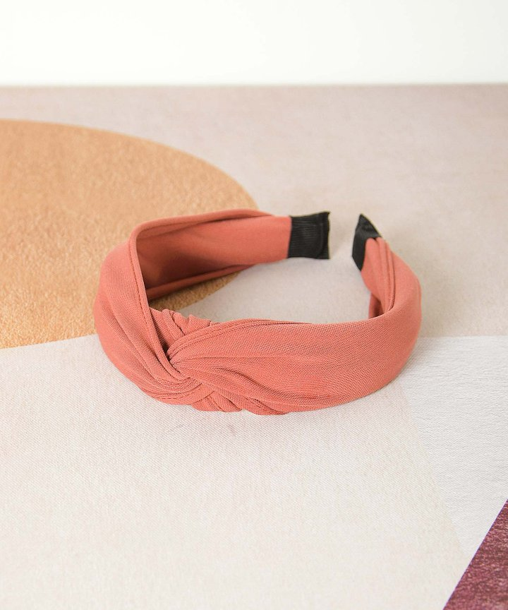 Risette Knotted Headband - Rouge