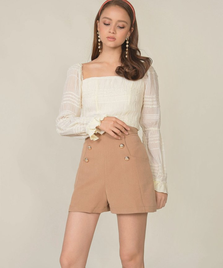 Riverside Textured Cropped Top
