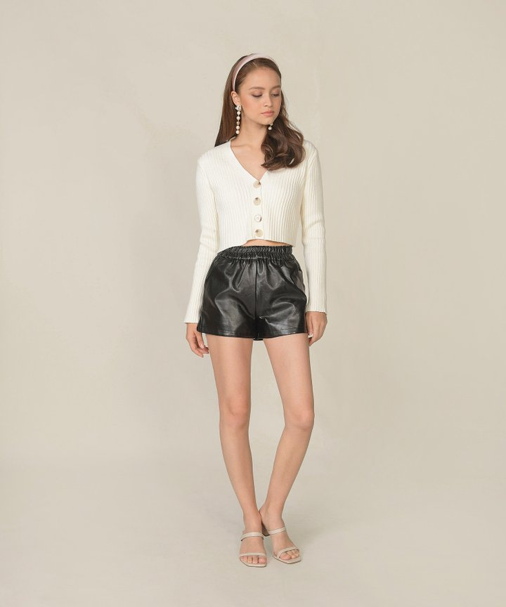 Sancerre Pleather Shorts - Black