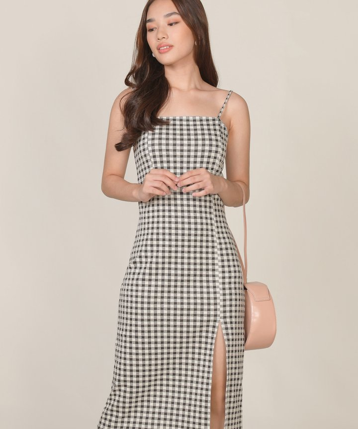 Sanna Gingham Midi Dress (Backorder)