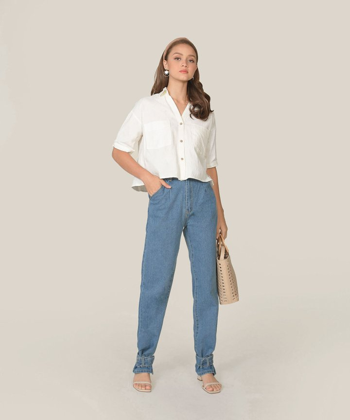 Simonne Chambray Shirt - White