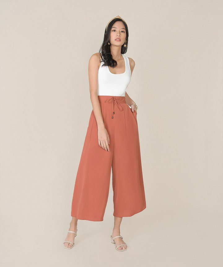 Acler Palazzo Pants - Coral Red