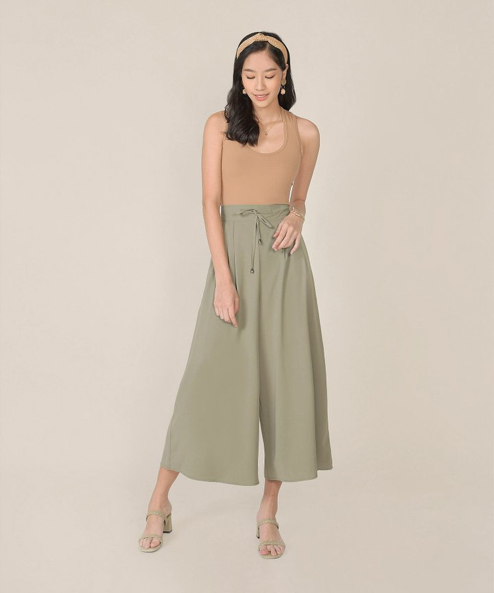 Acler Palazzo Pants - Dust Sage