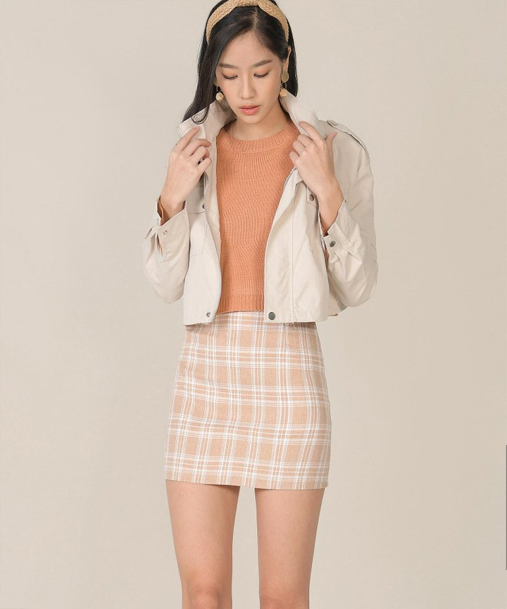 Arden Cropped Jacket - Pale Sand