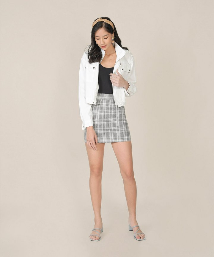 Arden Cropped Jacket - White