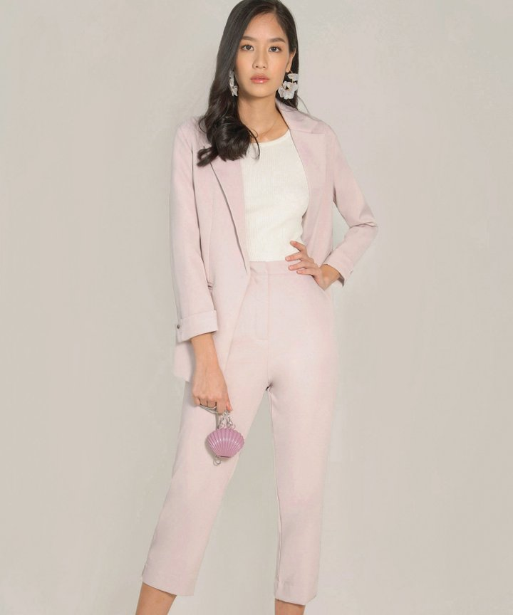 Belle Ame Blazer Co-ord - Pale Lilac