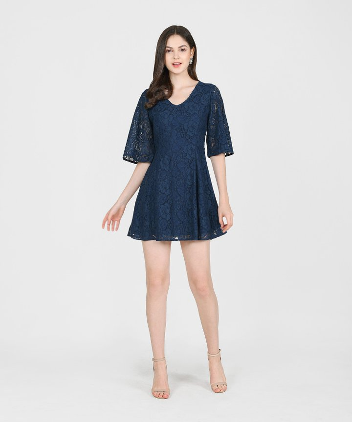 Carlisle Lace Dress - Midnight Blue