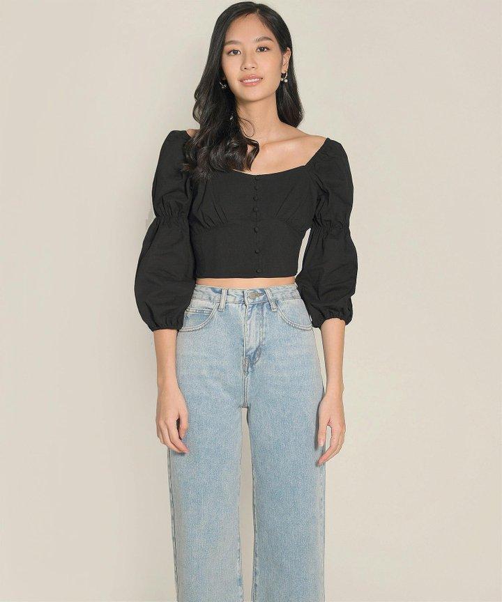 Peri Wide Leg Jeans - Light Blue