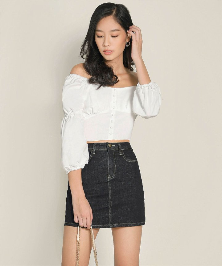 Citrus Cropped Top - White