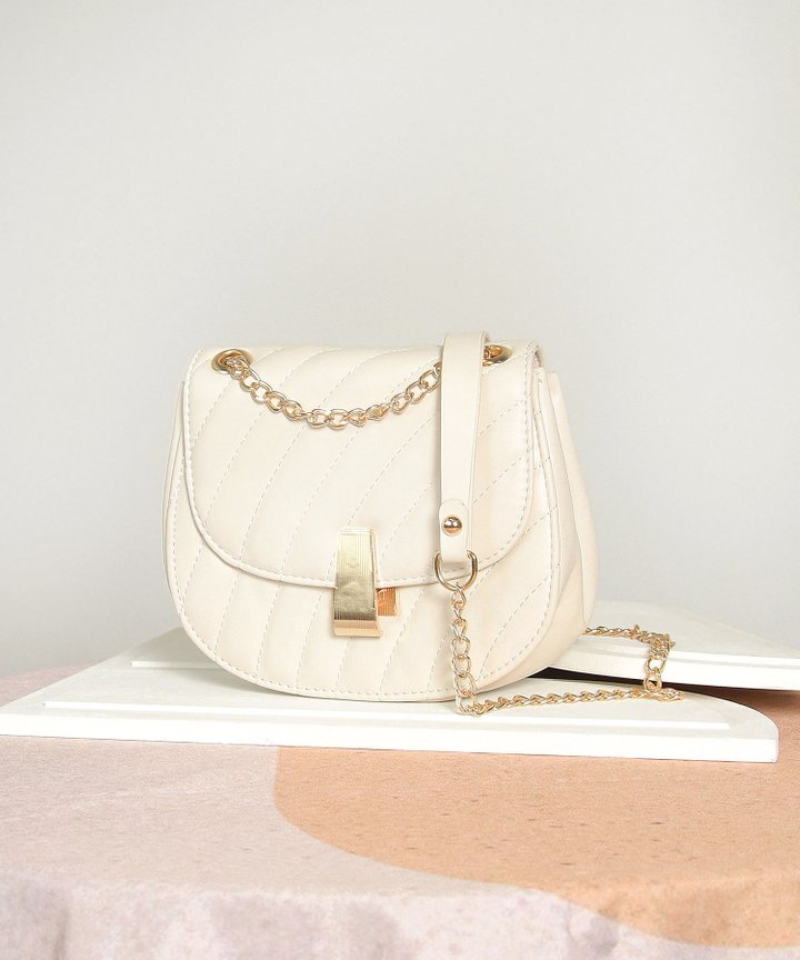 Clairbelle Chain Purse - Cream