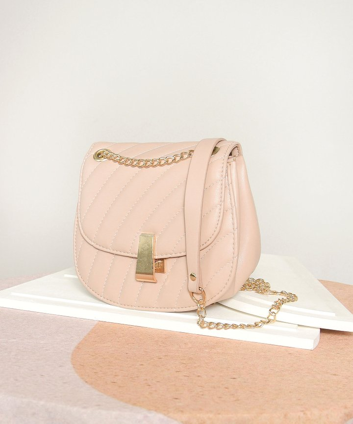 Clairbelle Chain Purse - Nude Pink