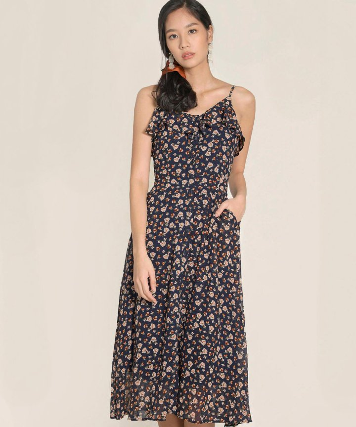 Dion Floral Ruffle Maxi Dress