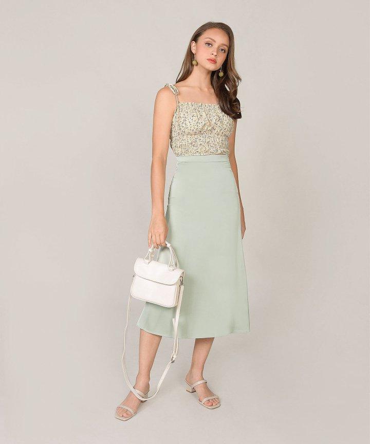 Eloise Satin Midi Skirt