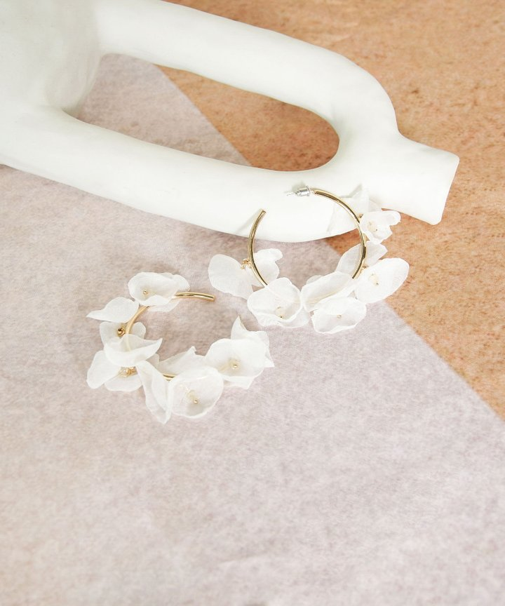 Etereo Floral Hoop Earrings