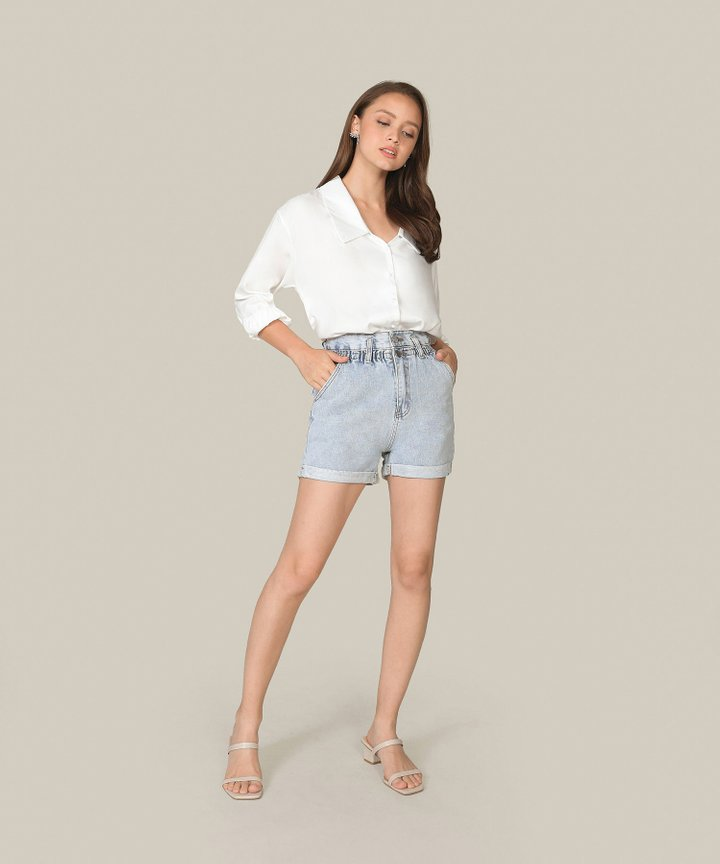 Felix Paperbag Denim Shorts
