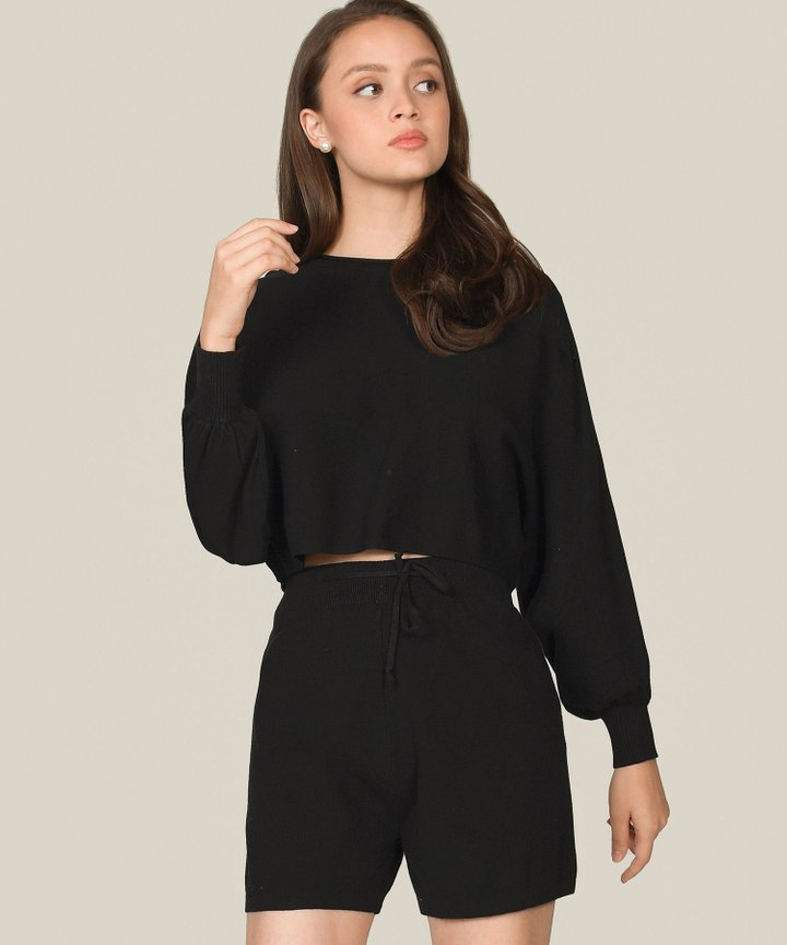 Iman Knit Co-ord - Black (Backorder)