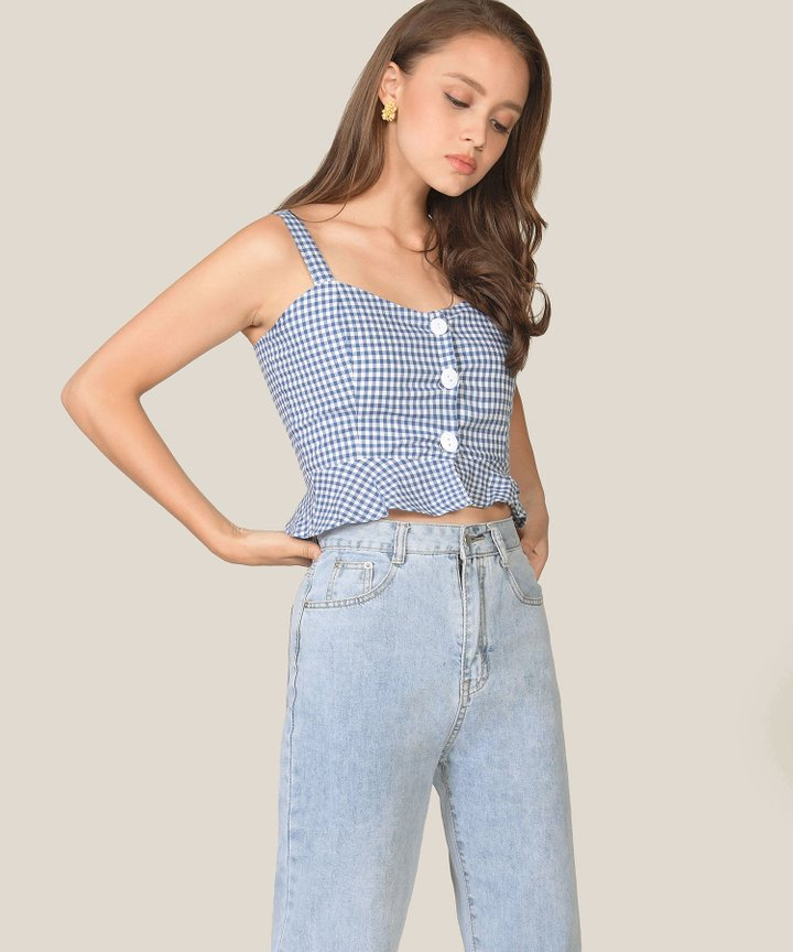Isolde Gingham Cropped Top