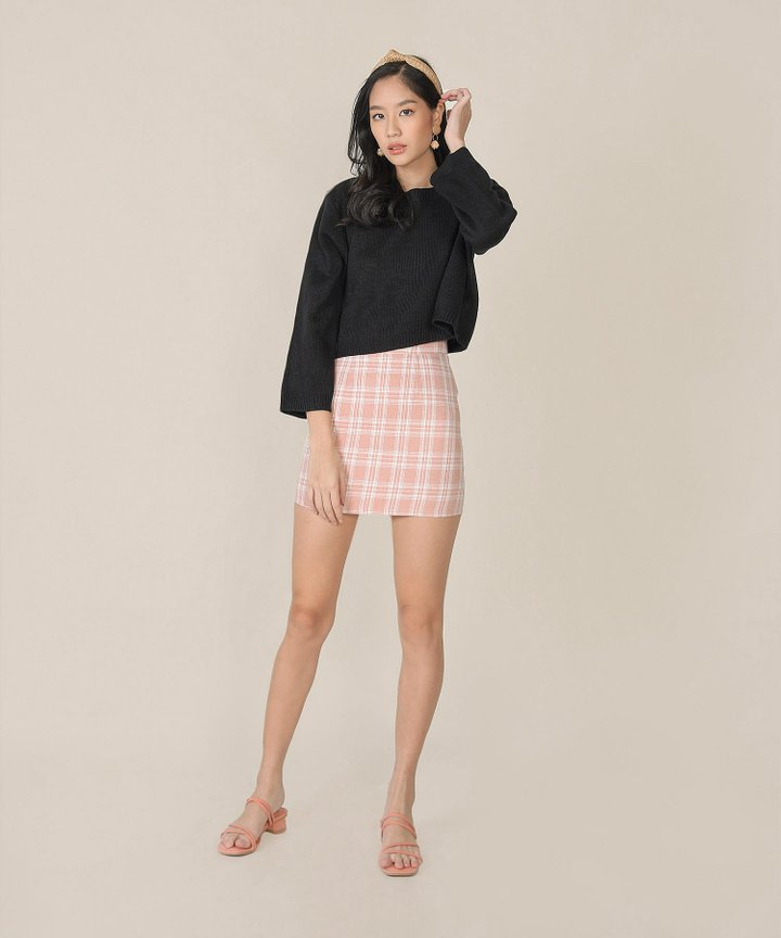 Massimo Plaid Skorts - Pale Pink