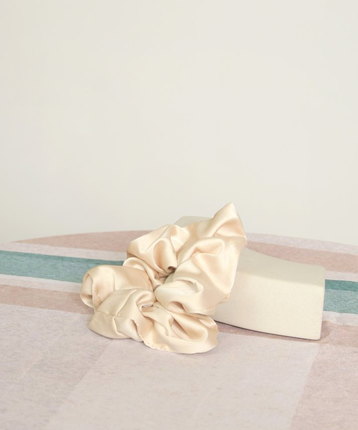Moonlight Satin Scrunchie - Cream (Restock)