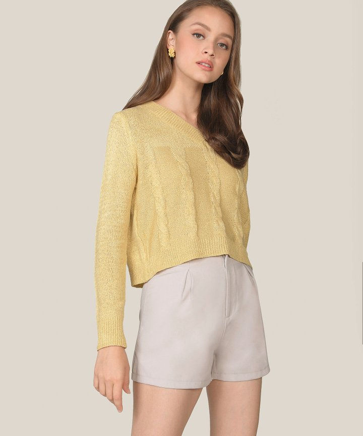 Poppy Knit Sweater - Canary Yellow
