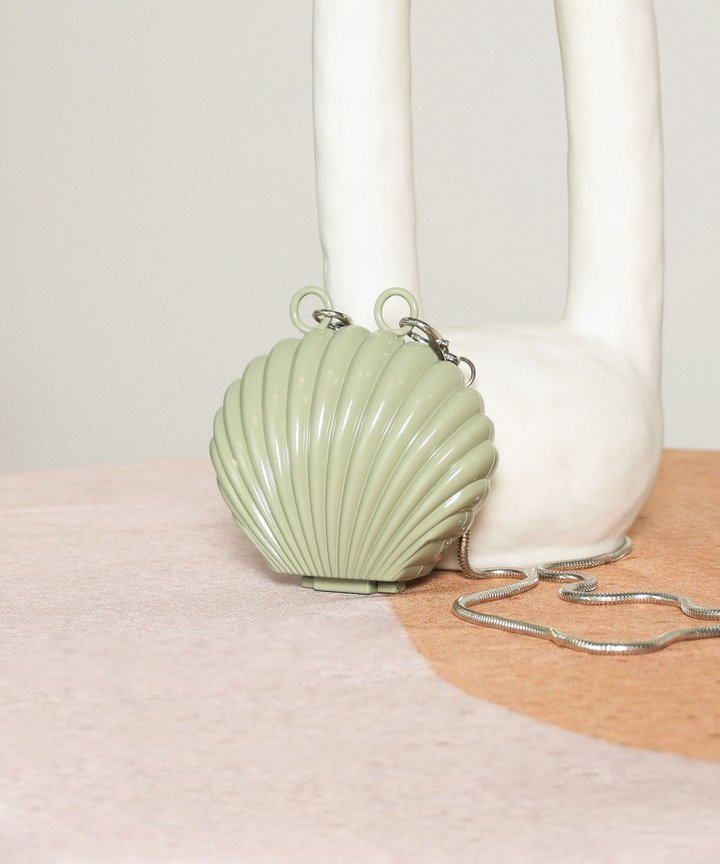 Visage Seashell Mini Clutch - Sage