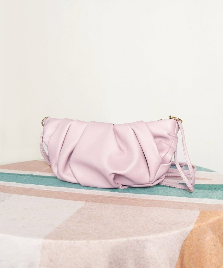 Wayfarer Ruched Bag - Lilac (Backorder)