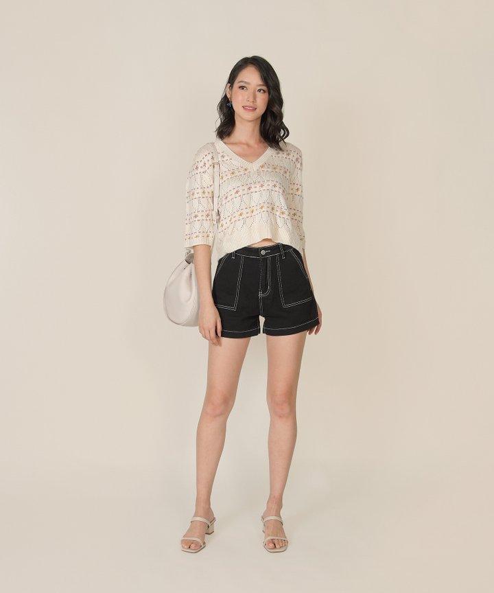 Alix Floral Knit Top (Backorder)