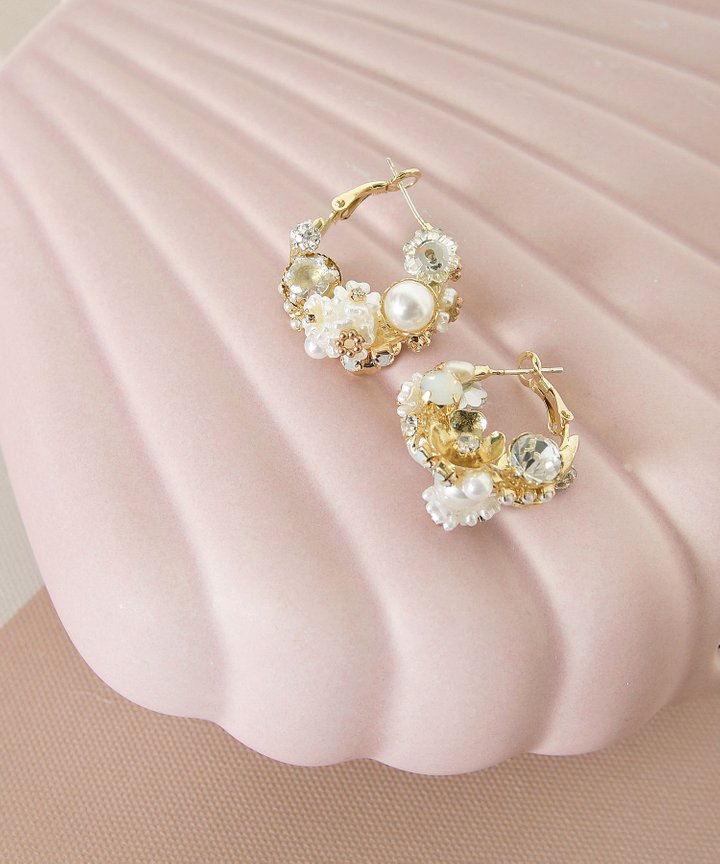 Aloise Pearl Cluster Earrings (Backorder)