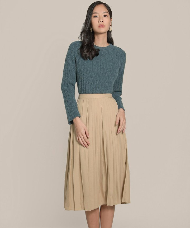 Mariska Knit Sweater - Forest Green