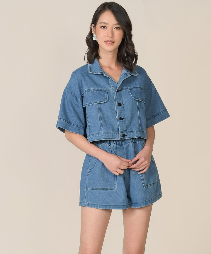 Navarro Denim Two-Piece Set