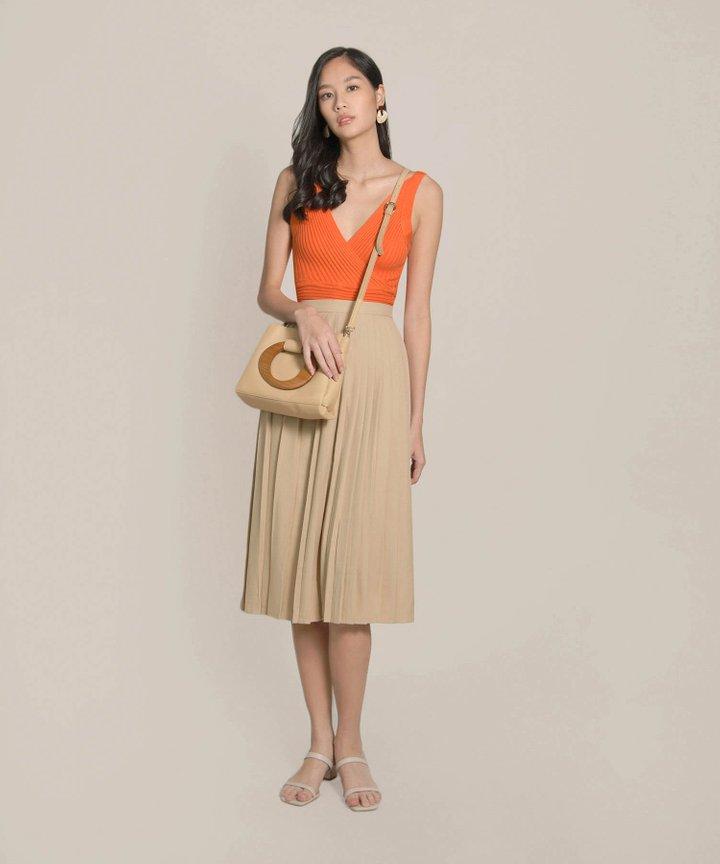 Trishna Pleated Midi Skirt