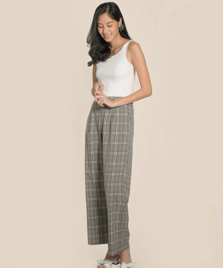 Whistler Plaid Wide Leg Pants