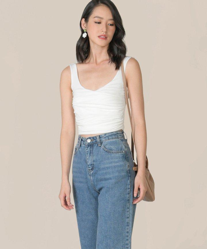 Peri Wide Leg Jeans - Medium Blue