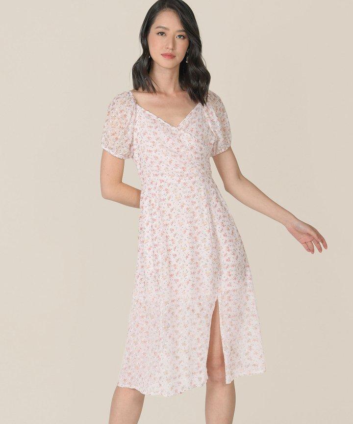 Gracie Floral Wrap Midi Dress