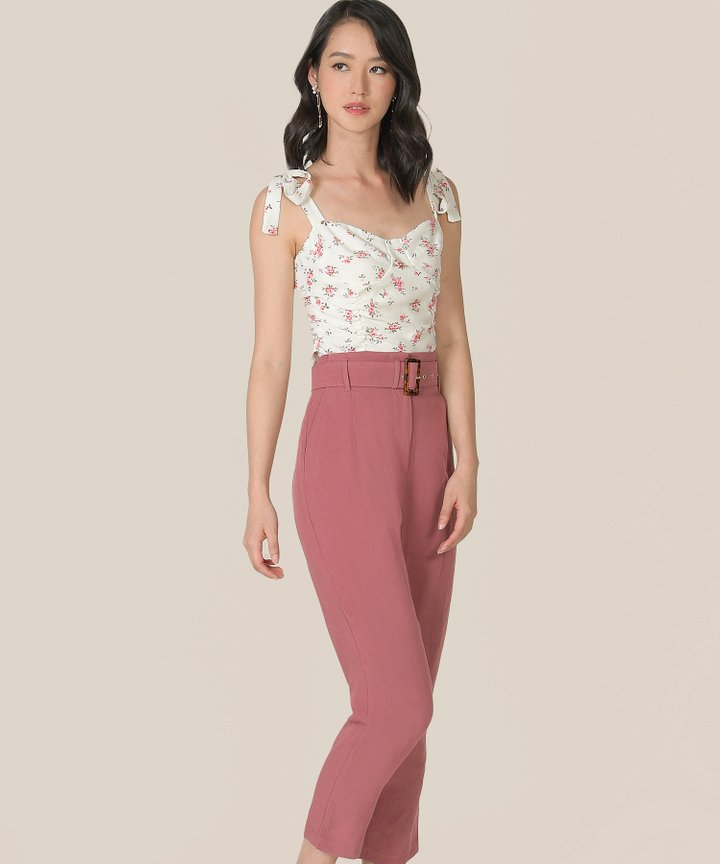 Sinatra Floral Ruched Top