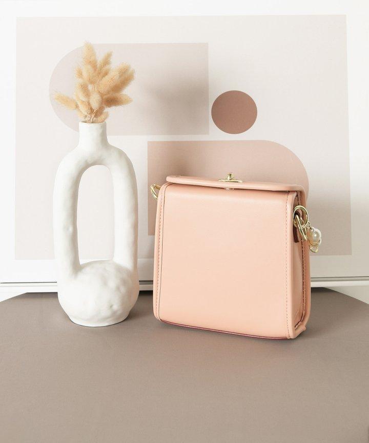 Nanette Pearl Handle Bag - Blush Pink