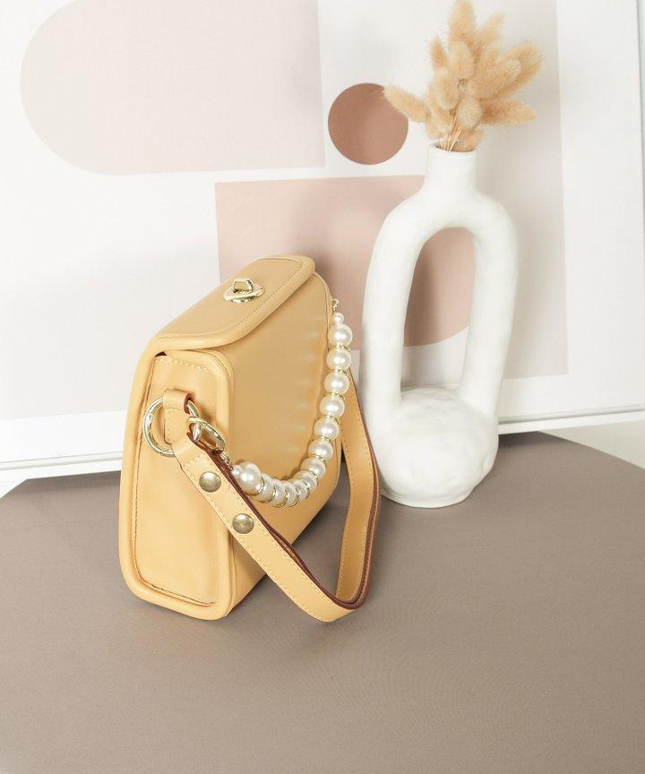 Nanette Pearl Handle Bag - Mellow Yellow