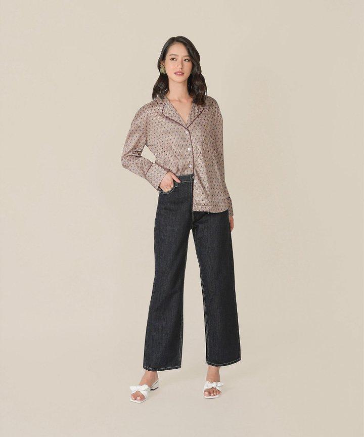 Revasse Printed Pyjamas-Style Shirt