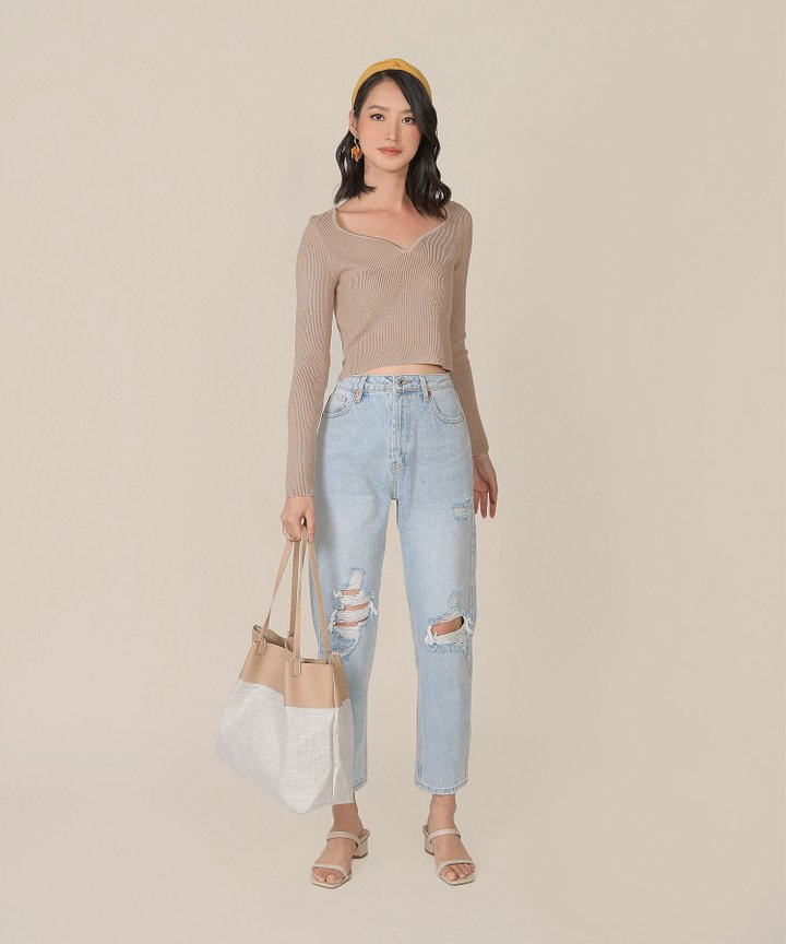 Rio Vista Knit Top - Taupe