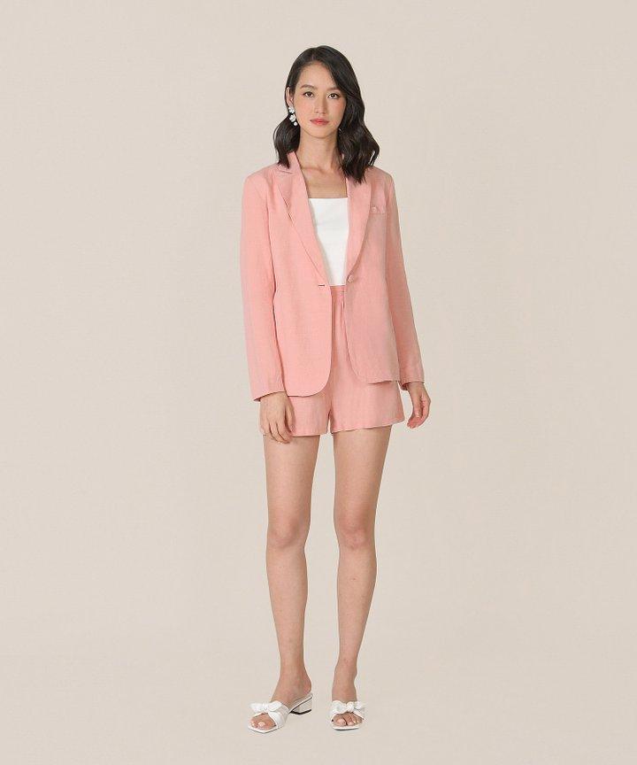 Sorbet Linen Blazer - Blush