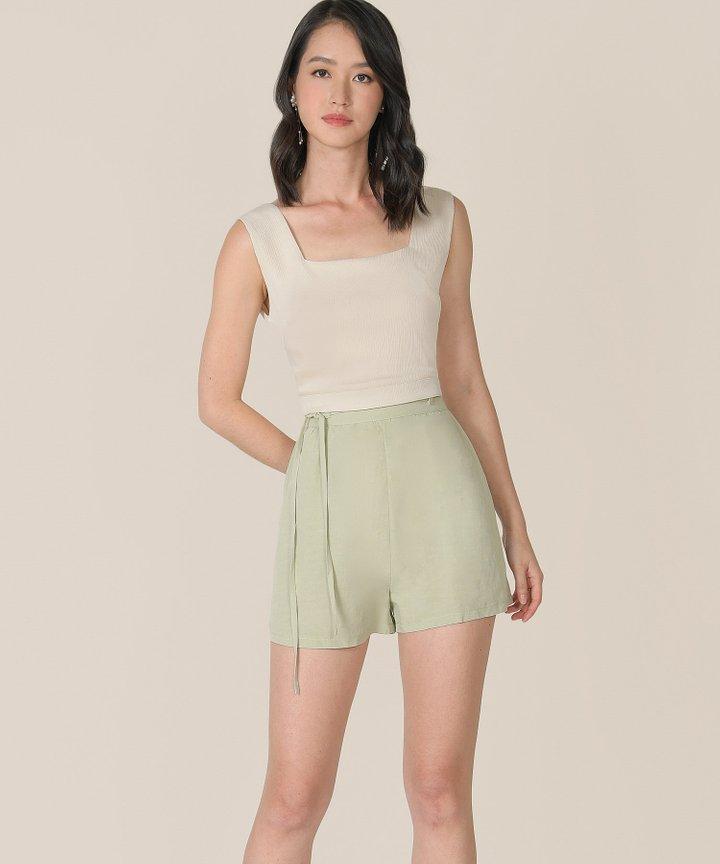 Sorbet Linen Shorts - Sage