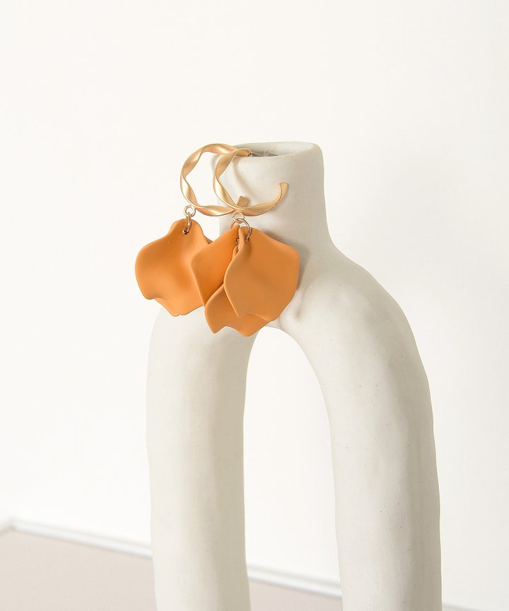Vassar Petal Earrings - Mustard (Restock)