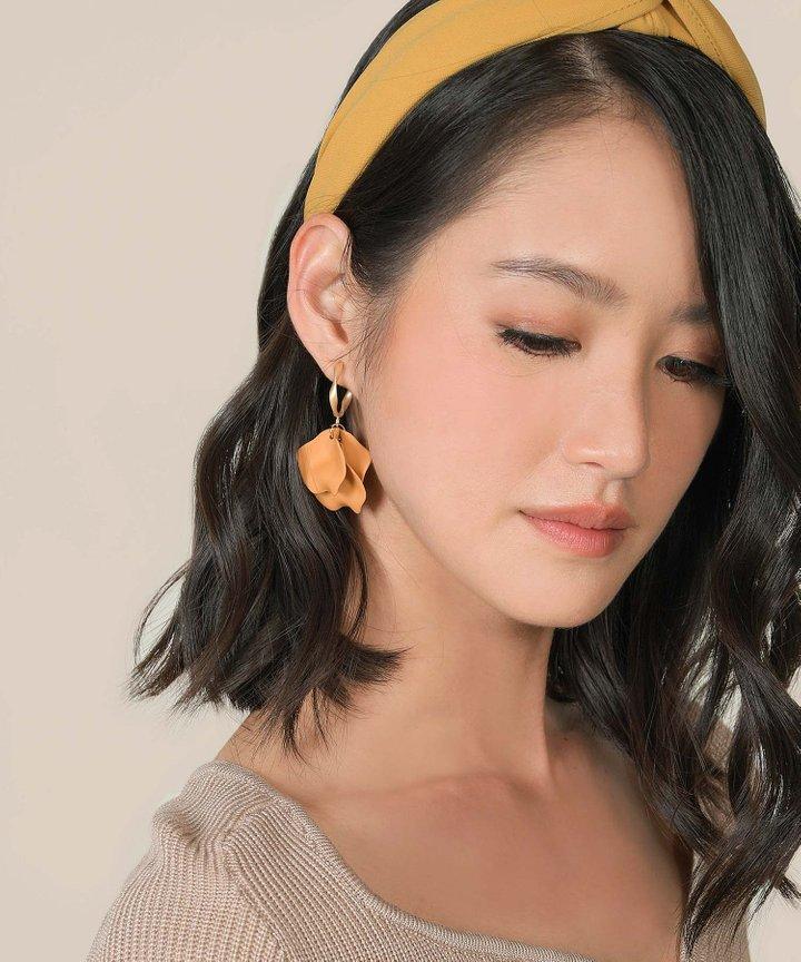 Vassar Petal Earrings - Mustard (Restock)