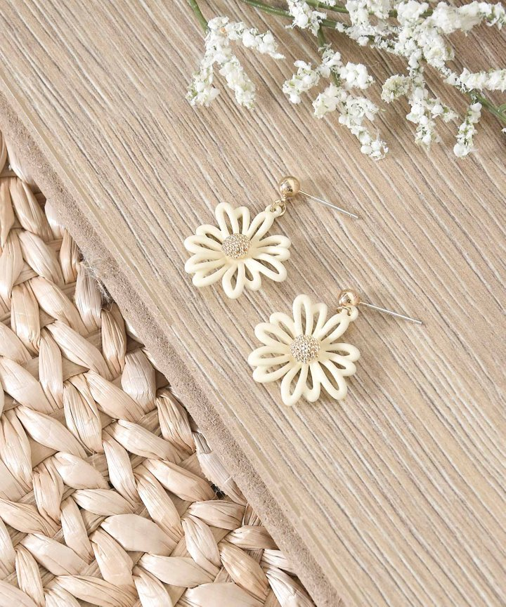 Aimery Piped Floral Earrings