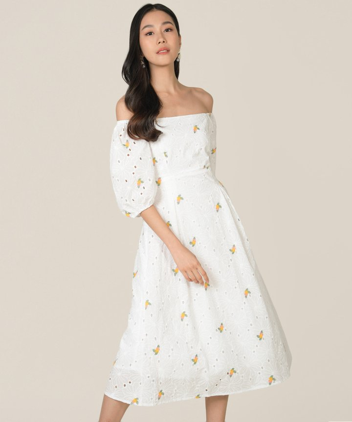 Artesia Floral Embroidered Midaxi Dress