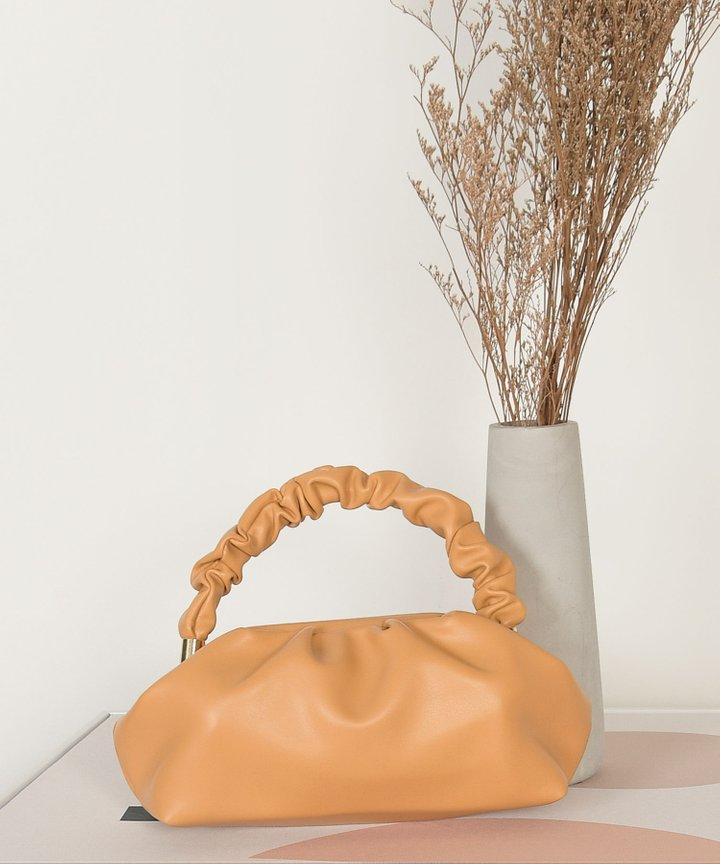 Elixir Ruched Handle Bag - Dijon