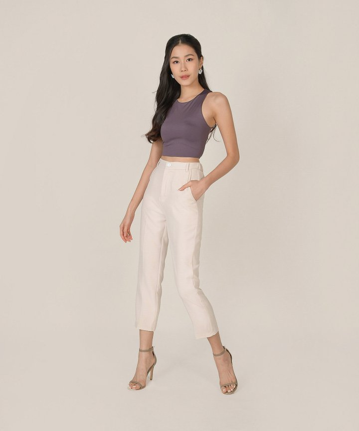 Estrella Cropped Pants - Cream