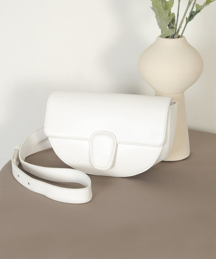 Gallant Vegan Leather Bag - White