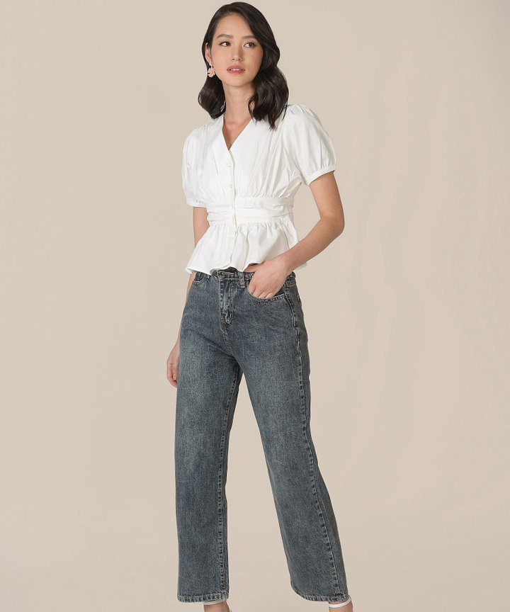 Halifax Straight Jeans - Stone